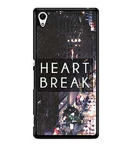 Fuson Premium 2D Back Case Cover Broken heart With Multi Background Degined For Sony Xperia Z4::Sony Xperia Z4 E6553