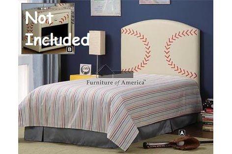 Cheap Kid Youth Baseball Twin Size Bed Headboard (Cm7103-BSBL)