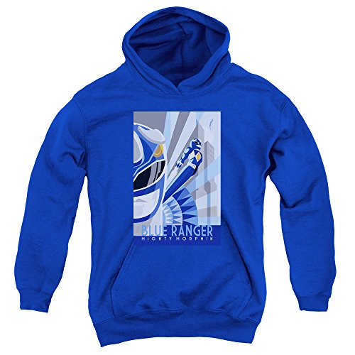 Mighty Morphin Power Rangers Blue Ranger Deco Big Boys Pullover Hoodie