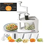 Müeller Spiral-Ultra Professional Spiralizer, 8 into 1 Spiral Slicer, Heavy Duty Vegetable Pasta Maker and Mandoline Slicer for Low Carb/Paleo/Gluten-Free Meals