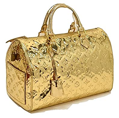 Authentic louis vuitton monogram miroir speedy 30 gold for Louis vuitton miroir speedy