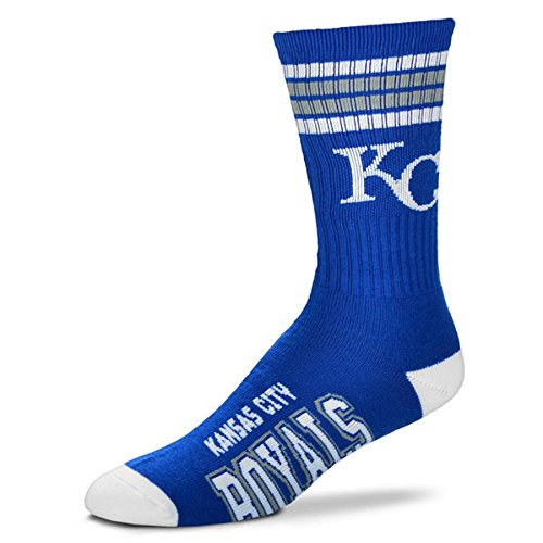 MLB 4 Stripe Deuce Socks - Men's Large (fits 10-13) (Kansas City Royals) (Giants Tickets 2015 compare prices)
