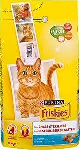 Friskies - Croquettes Chat Stérilisé Saumon - 4 kg