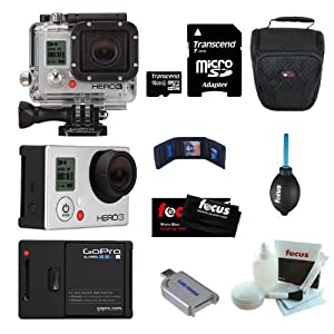 GoPro Camera HD HERO3: Silver Edition 16GB Micro SD Bundle by GoPro