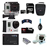 GoPro Camera HD HERO3: Silver Edition 16GB Micro SD Bundle