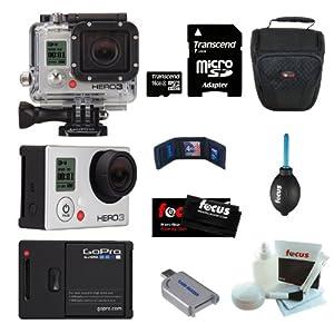 GoPro Camera HD HERO3: Silver Edition 16GB Micro SD Bundle