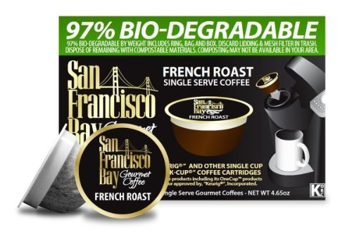 San Francisco Bay Coffee French Roast, 12-Count OneCup Single Serve Cups (Pack of 3)