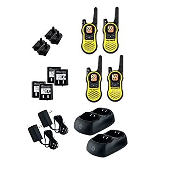 4 PACK Motorola MH230R - OUTDOOR CAMPING HUNTING FISHING HIKING/TRAILING 23-Mile Range 22-Channel FRS/GMRS 2 Way Radio 4 Pack