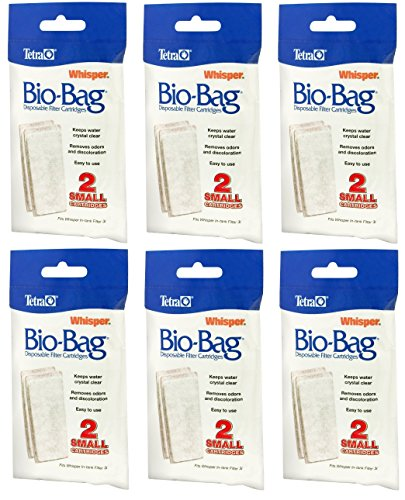 Tetra Whisper Assembled Bio-Bag Filter Cartridges Small - 12 Total Filters (6 Packs with 2 Filters per Pack) (Whisper Filters compare prices)