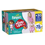 Pampers Easy Ups Girl Trainers Value Pack Size 6 S4T/5T 78 Count