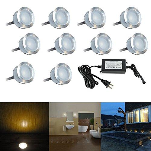 low voltage warm white in ground lights led deck light kit recessed. Black Bedroom Furniture Sets. Home Design Ideas