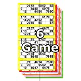 Jumbo Bingo Ticket Booklets, 6 to View, 6 Game