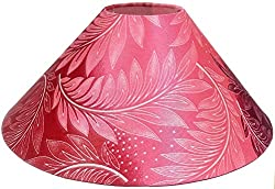 13 Round Pink Floral Designer Lamp Shade for Table Lamp or Floor Lamp