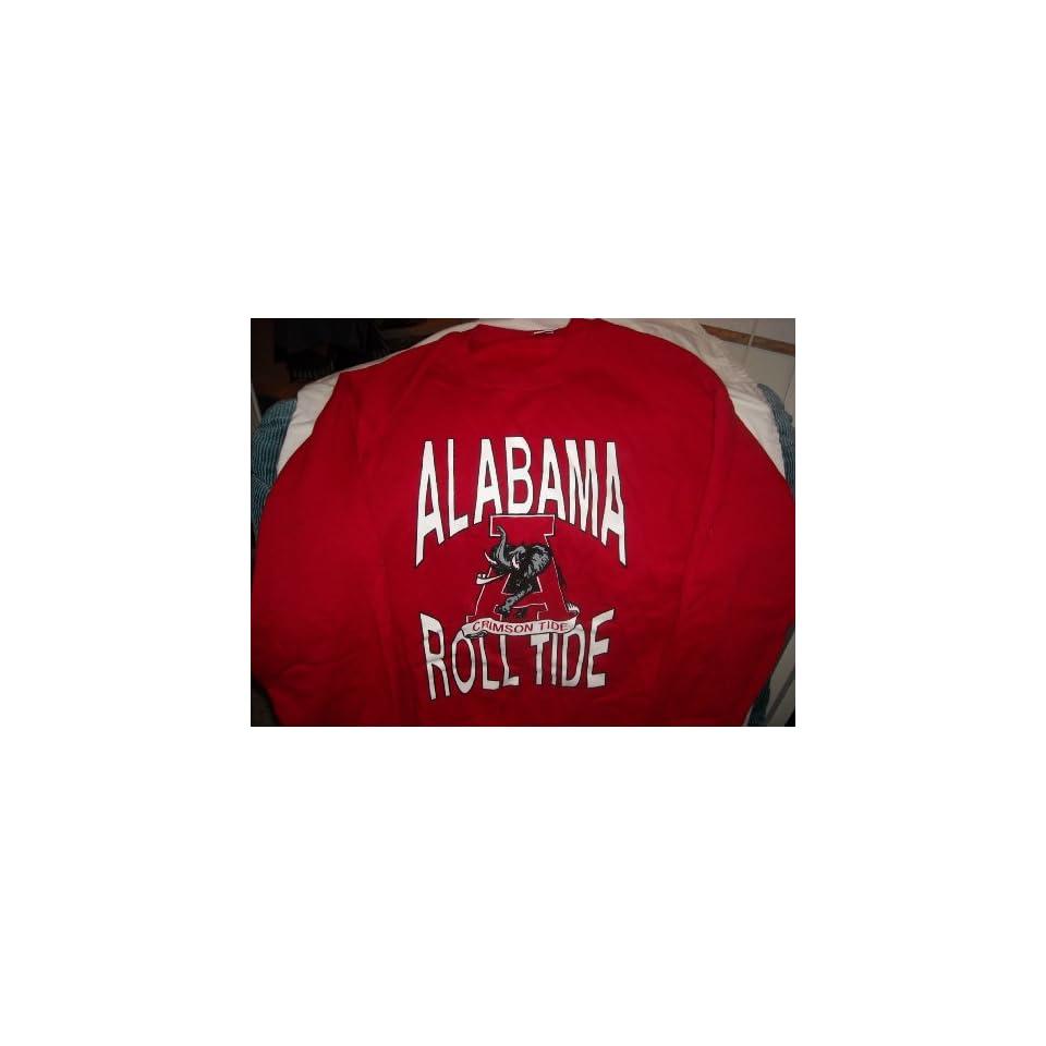 Alabama Roll Tide Red Longsleeves Sweat Shirt