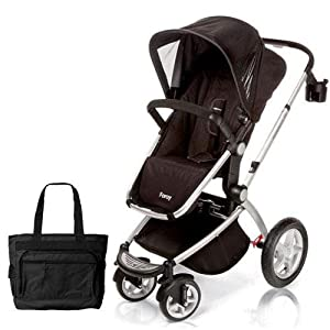 Maxi-Cosi CV162APUKT1 Foray LX Stroller in Total Black with Diaper Bag