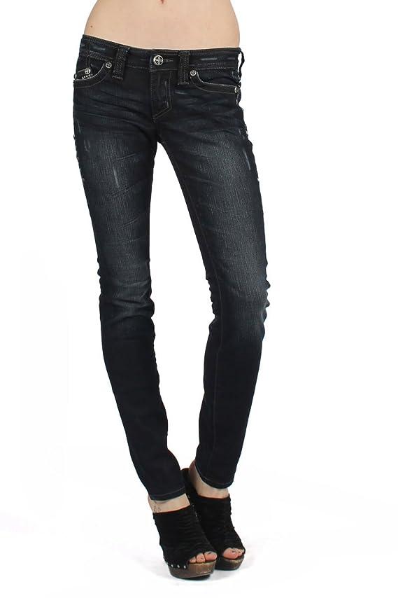 Affliction Womens Raquel Trekker Cross Skinny Jeans In Journey