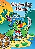 Avery Zweckform 57799 Kinder Sticker Sammelalbum, Pirat (silikonisiertes blanko Papier), 1 Album