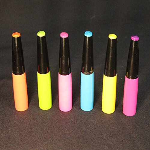 Neon Black Light Liquid Eye Liners, Lip Liners, or Body Art Detailers- Set of 6 (Detailer Light compare prices)
