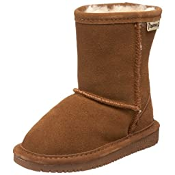 BEARPAW Emma 608T Shearling Boot (Toddler/Big Kid),Hickory,9 M US Toddler