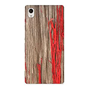 Ripped Wood Back Case Cover for Xperia M4 Aqua