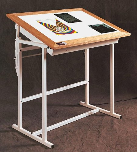 Ikea drafting table with light box ikea white drafting for Ikea drafting table with lightbox