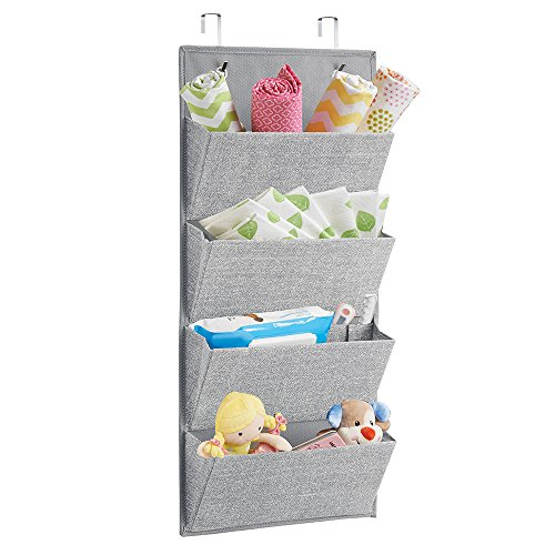 Nursery Wall Storage: Hanging Wall Shelves Over The Door Fabric Storage Baby
