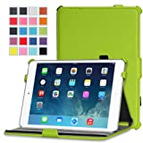 MoKo Apple iPad Mini 3, 2 and 1 Case - Slim-Fit Cover Case for Mini3 (2014 edition with Touch ID), Mini2 (2013 model with Retina Display) and Mini (2012 1st gen), GREEN ( with Smart Cover Auto Wake / Sleep)