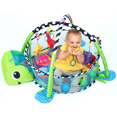 Baby activity center floor play gym ball pit turtle for Baby play centre