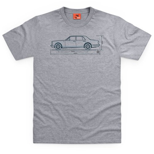 PistonHeads Bentley Turbo R T-shirt, Uomo, Grigio mélange, 3XL