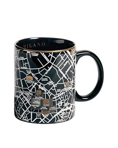 Seletti Porcelain Map Mug, Milan, 3.4H x 3Dia.
