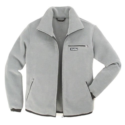 TAIGA Fleece Jacket-300 - Men's Polartec®-300 Fleece Jacket, Light Grey, MADE IN CANADA