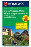 Elsass - Vogesen Mitte - Alsace - Vosges du Centre: Wanderkarten-Set mit Aktiv Guide. GPS-genau. 1:50000