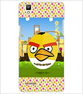 PrintDhaba Angry Bird D-2815 Back Case Cover for OPPO F1 (Multi-Coloured)