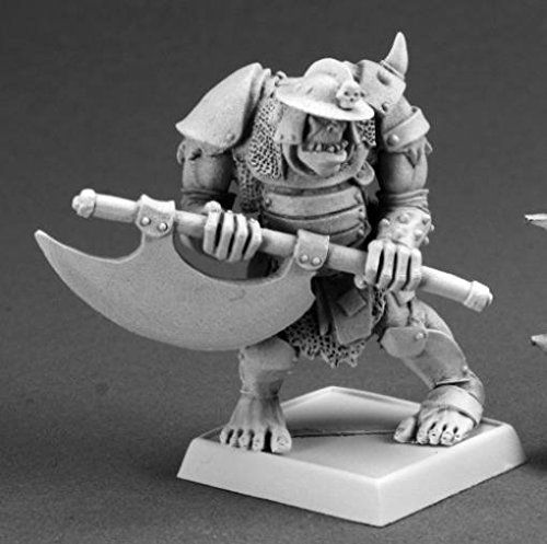 Gologh the Vicious, Orc Captain Reaper Warlord Miniature - 1