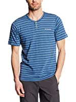 Columbia Camiseta Manga Corta Lookout Point Henley (Azul Oscuro)