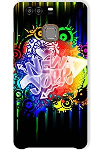 IndiaRangDe Case For Huawei P9 Printed Back Cover