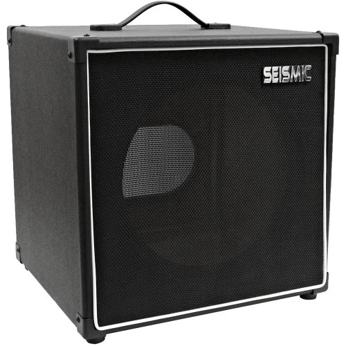"""Seismic Audio - 1X12 Guitar Speaker Cab Empty - 7 Ply Birch - 12"""" Cube Cabinet - Black Tolex, Black Removable Cloth Grill - Front Loading Speakerless Cabinet"""