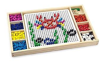 Viga Toys - 59990 - Jeu De Plateau - Jeux De Créations - Picos Colorés Et Ludo