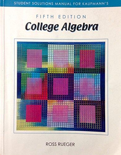 Ssm College Algebra 5 E