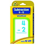 School Zone Publishing Subtraction 0 12 Flash Cards (Set Of 36)