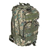 Sport Outdoor Military Rucksacks Tactical Molle Backpack Camping Hiking Trekking Bag (Woodland Digital)