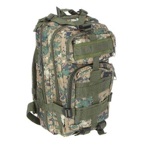 Sport Outdoor Military Rucksacks Tactical Molle Backpack Camping Hiking Trekking Bag (Woodland Digital)