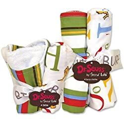 Trend Lab Dr Seuss Abc Bib And Burp Cloth Set By Trend Lab