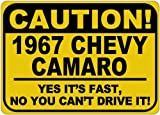1967-67-CHEVY-CAMARO-Caution-Its-Fast-Aluminum-Caution-Sign---10-x-14-Inches