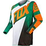 Fox Racing 180 Vandal Kids Boys MX Motorcycle Jerseys – Green/Orange / Medium thumbnail