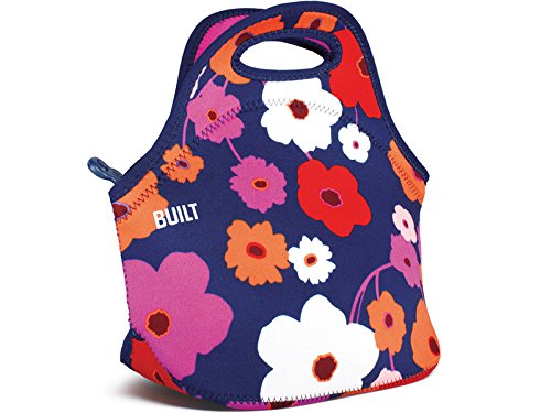 built-ny-gourmet-getaway-lush-flower-neoprene-lunch-tote-bag
