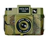 Holga 188120 Commando  Holgawood Collection Camouflage Plastic Camera