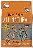 ALL NATURAL Peanut Butter Mini-Paw Dog Cookies - 16oz Box