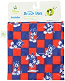Bumkins Disney Baby Reusable Snack Bag, Mickey Checkered, Large