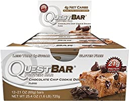 Quest Protein Bars Chocolate Chip Cookie Dough 12 Bars